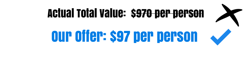 Our Offer- $97 per person