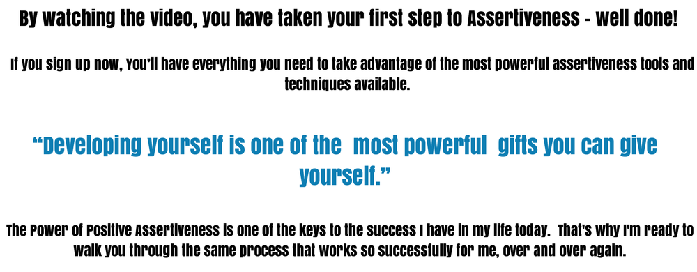 Sign up to your assertiveness training today