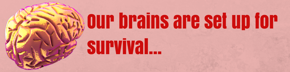 Our brains are set up for survival