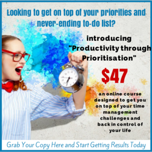 Productivity through Prioritisation Online Course