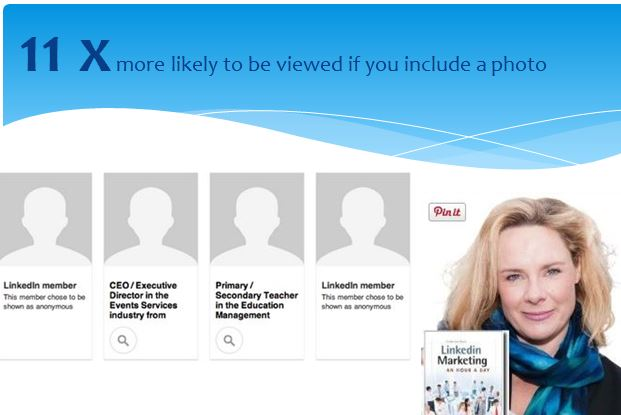 11x more likely to be viewed with a professional image on linkedin