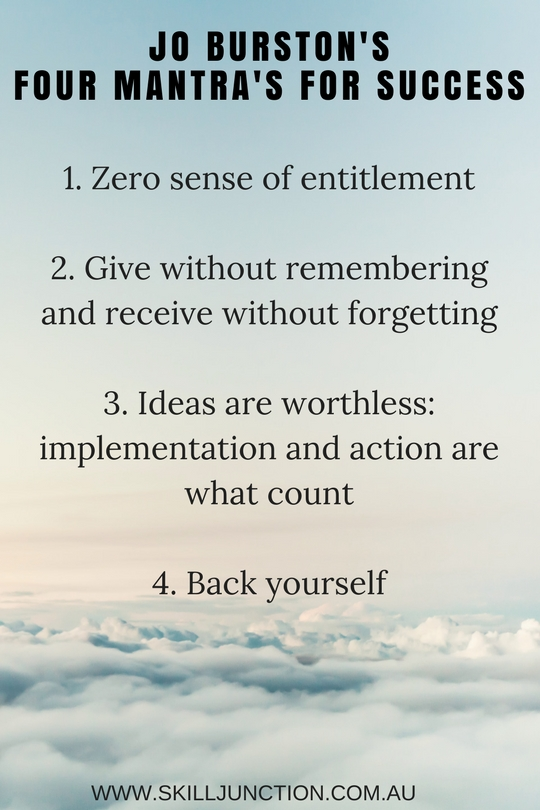four mantras for success clarity jo burston